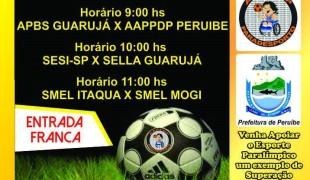 Peruíbe sedia etapa de abertura do Campeonato Paulista de Futebol 7 PCD Ações