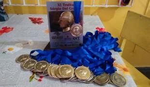 Equipe de Peruíbe conquista 31 medalhas em torneio de atletismo paralímpico