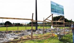 Iniciadas  as obras da Praça de Esportes do Jardim Ribamar