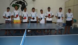 Cidade volta a ter equipes de tênis de mesa